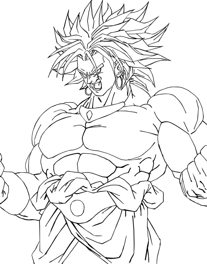 Broly l a 2 by mastertobi on deviantart for Dragon ball z broly coloring pages