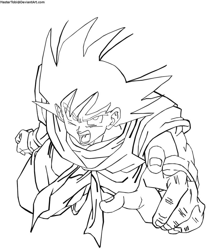 dragon ball z goku super saiyan 4 coloring pages