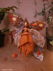 OOAK Artdoll - KULA, the Fire Fairy ~ art doll fae by terratundra