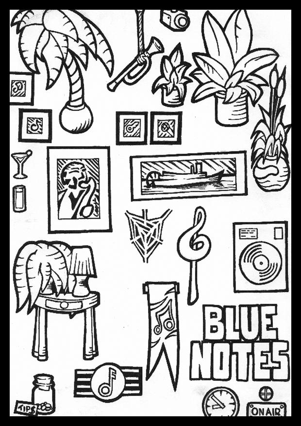 Blue Notes Sprite Sheet 4