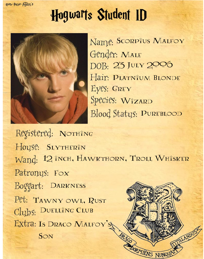 Scorpius Malfoy ID By Swiftfang Rules On DeviantArt