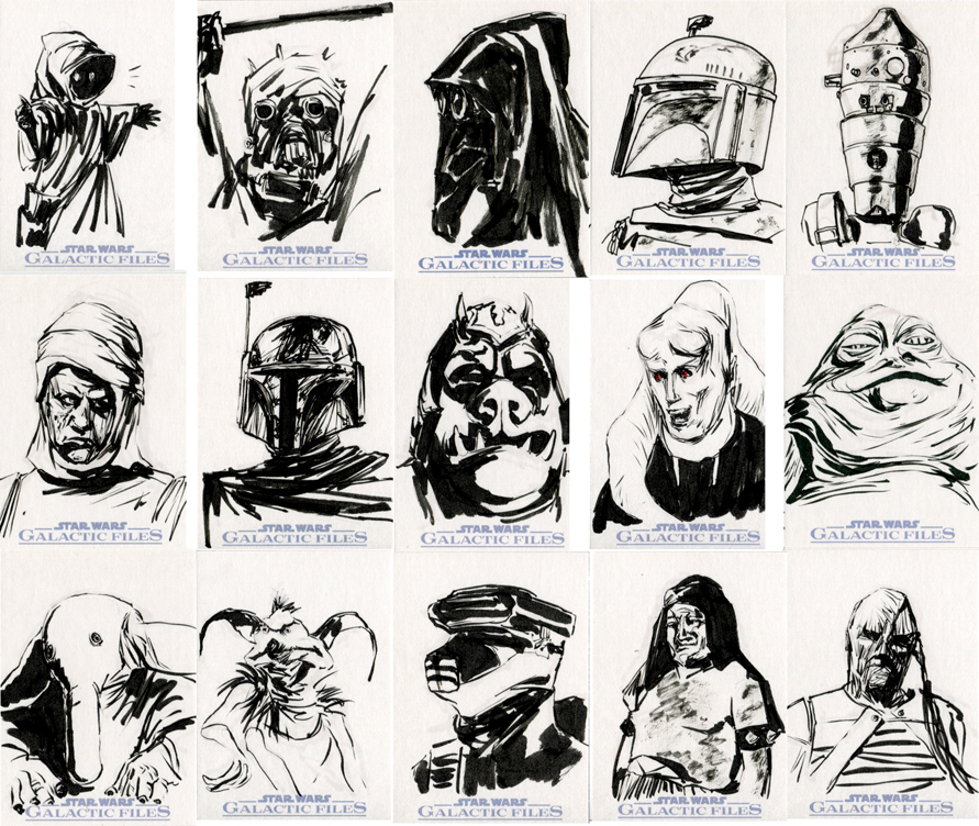 Star Wars Sketch Cards - Scum And Villainy By Clayrodery On DeviantArt
