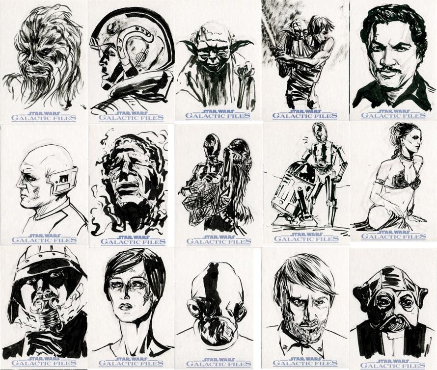 Star Wars Sketch Cards - Rebel Alliance I By Clayrodery On DeviantArt