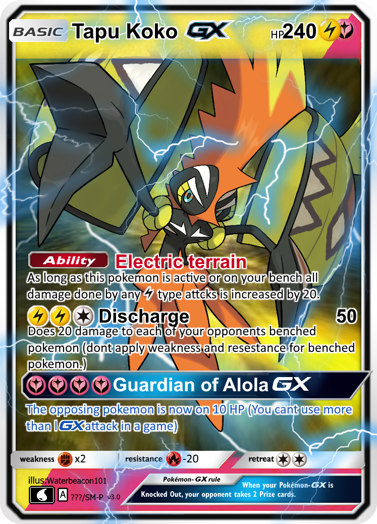Tapu Koko GX by Waterbeacon on DeviantArt Wailord Pokemon