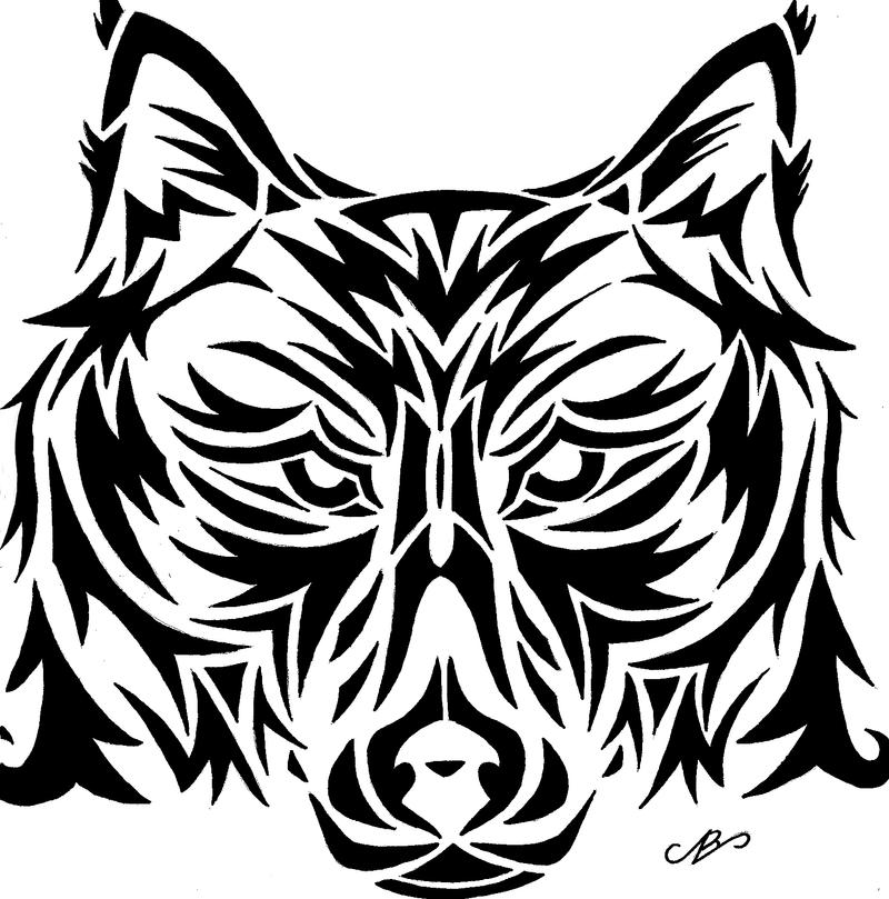 Wolf tribal design drawing by nikolai bartolf on deviantart for Cool drawing design ideas