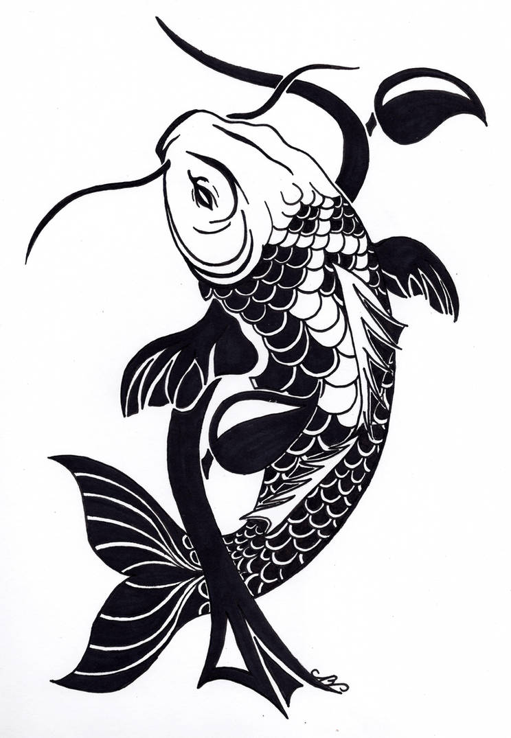 dc4bcb4f6c710 Tribal Koi Fish Tattoo Design by Nikolai-Bartolf on DeviantArt