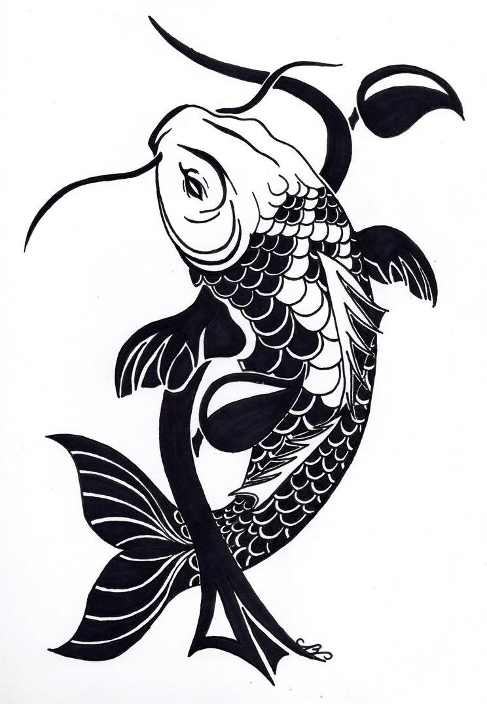 tribal koi fish tattoo design by nikolai bartolf on deviantart. Black Bedroom Furniture Sets. Home Design Ideas