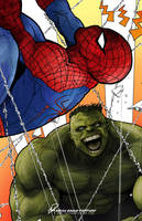 The Incredible Hulk vs The Amazing Spider-Man by Essig-Peppard