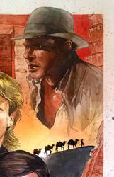 Indiana Jones Watercolor by Essig-Peppard
