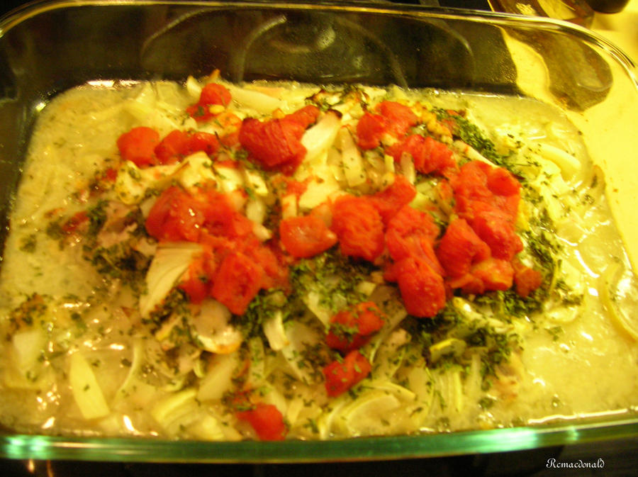 Baked Fish in Tomato Sauce by rcmacdonald on deviantART