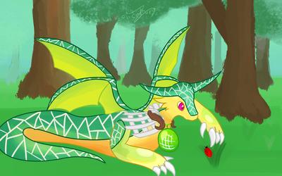 Comission - Melon Dragon
