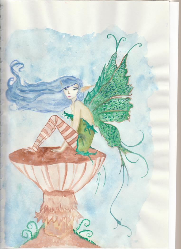 Fairy on mushroom by getupp