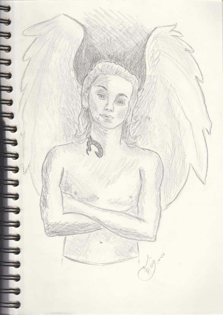 Sketch of an angel by getupp