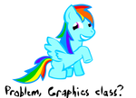 Rainbow Dash finds this funny