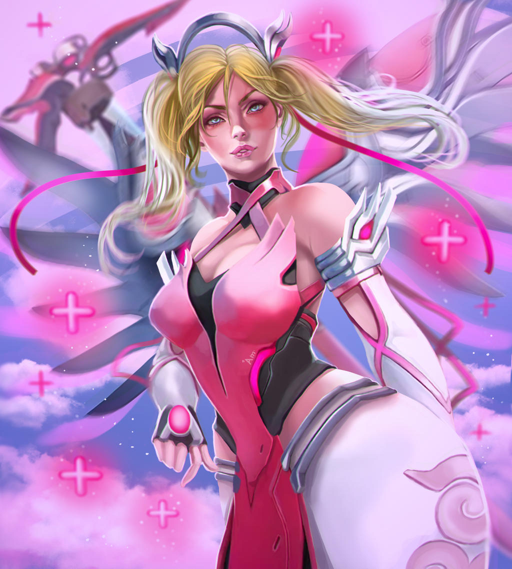 Mercy pink suit by AmeDvleec