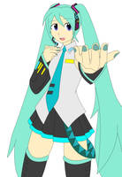 Miku Hatsune August2014 colored by blackdeath2000