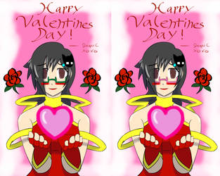 Valentines Green and Pink 2017 by blackdeath2000