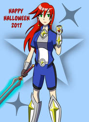 Halloween 2017 Magical Warrior Angie by blackdeath2000