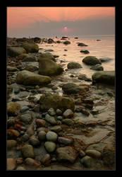 sunset bay by carlob