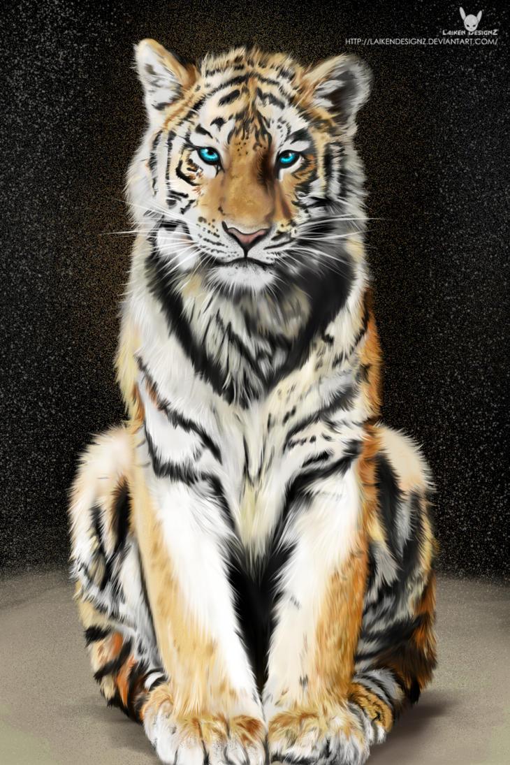 Tiger Art by LaikenDesignz