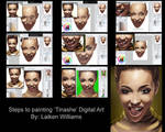 Steps To Digital Painting of Artist 'Tinashe'