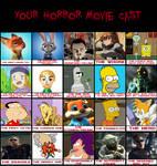 My 3rd horror movie cast