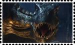 Indoraptor fan stamp