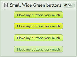 Small wide Green buttons