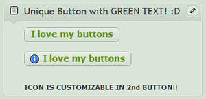 Unique BUTTONS with green text
