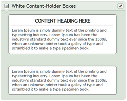 White Content-Holder Boxes