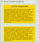 Yellow Content-holder box