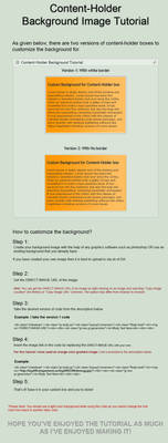 Content-Holder Background tutorial