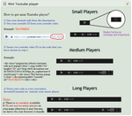 Mini Youtube Player embeddable code
