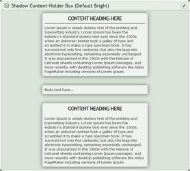 Shadow Content-holder box (Default Bright)