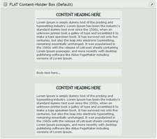 Flat Content-Holder Box (Default) by CypherVisor
