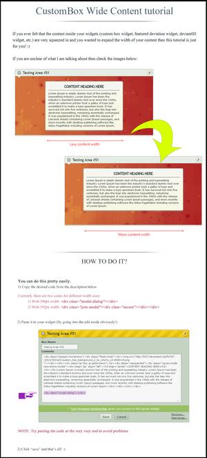 CustomBox Wide Content tutorial