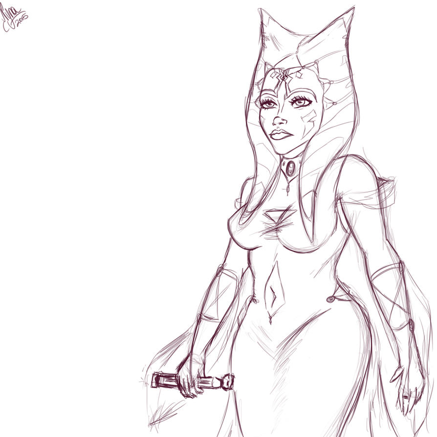 Ahsoka Princess of Shili (wip)-byNYNA by N-Y-N-A