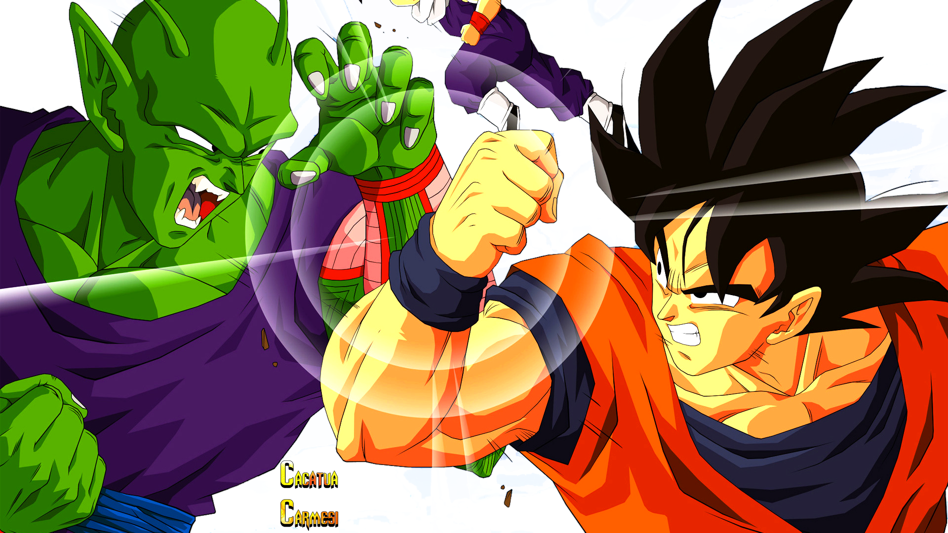 Goku Vs Piccolo Png Render By Xxsinfirmaxx On Deviantart
