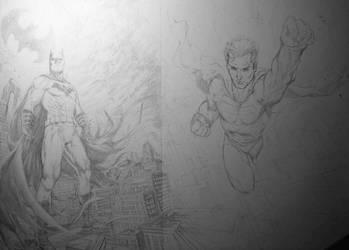 batman-superman WIP by MMontiel