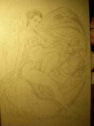 WIP slave Leia by MMontiel