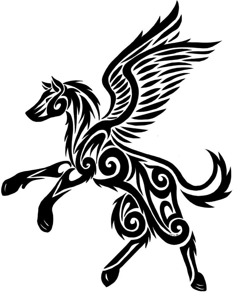 tribal winged wolf by inuyasha-naruto16 on DeviantArt