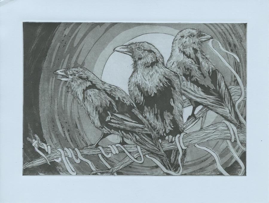 The Three Ravens by Henri-Pants
