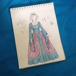 Princess Dress Drawing by Ceeyena