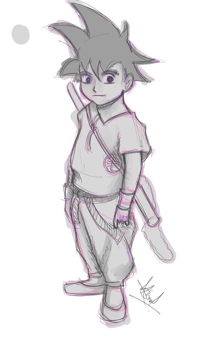kid Goku by mrinalrockzs