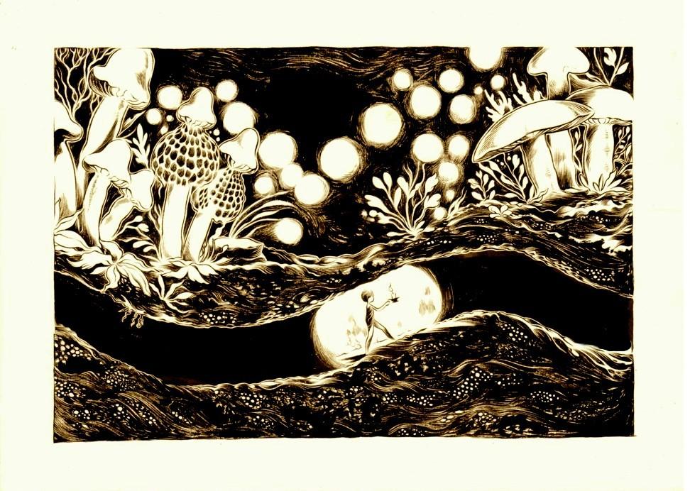 Toadstool Tunnels by moosekleenex