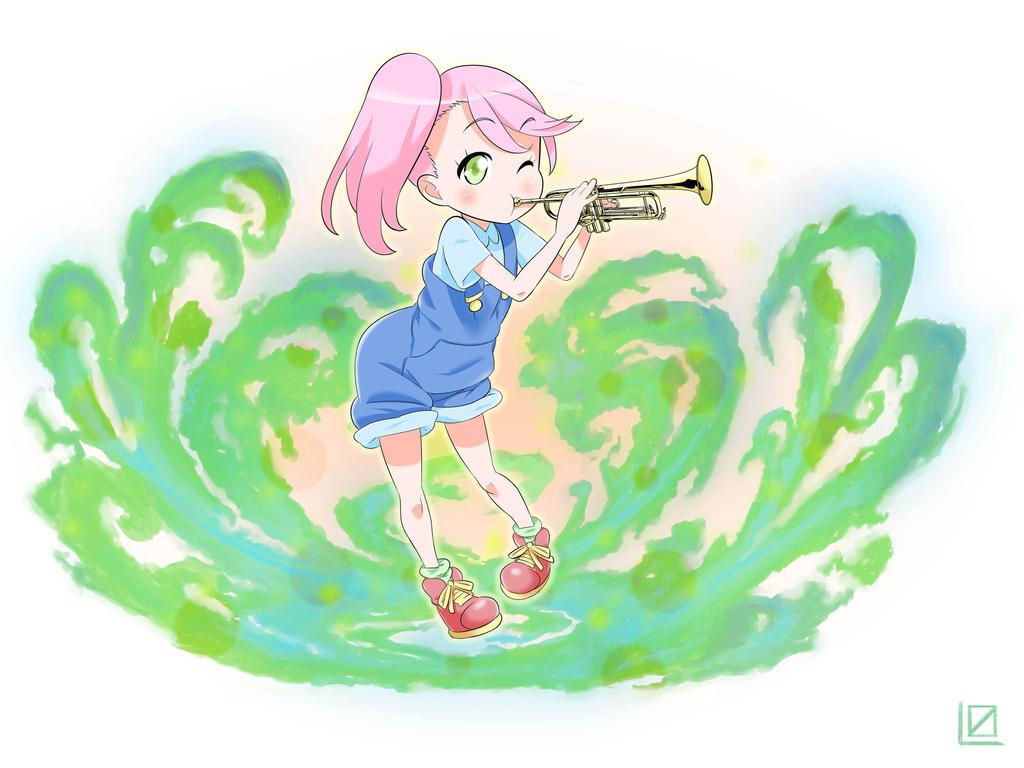 Trumpet girl by kjech