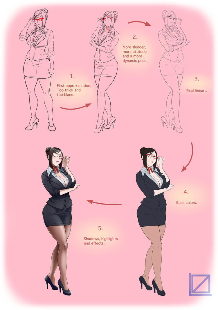 Yandere Simulator's Student Counselor process by kjech