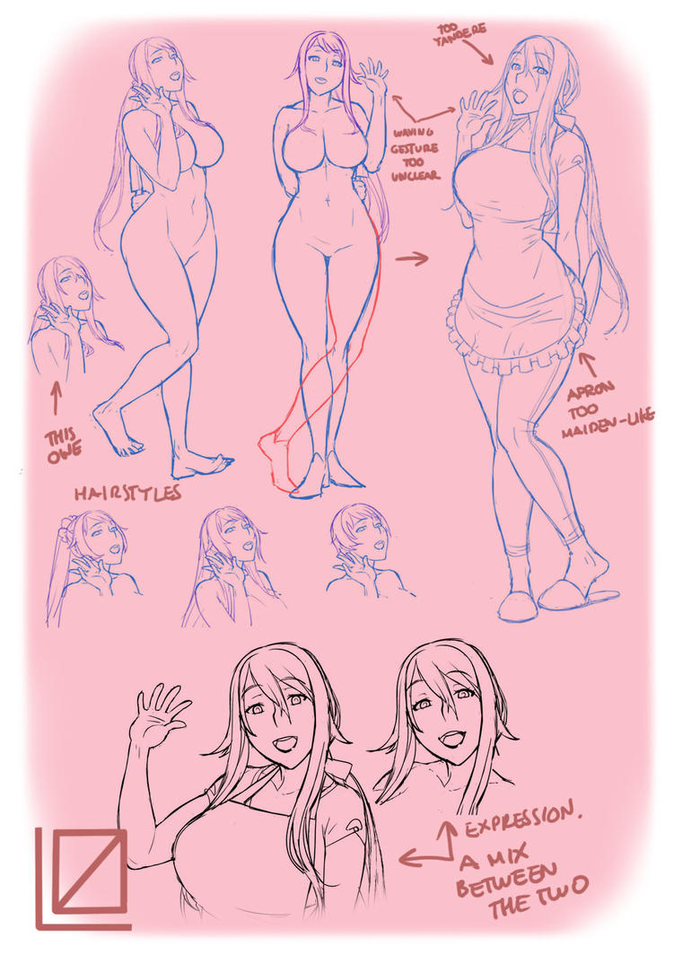 Yandere Simulator's Yandere mom sketches by kjech
