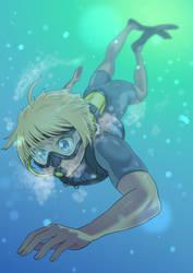 Asu Rito underwater (Commission) by kjech