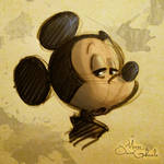 Mickey Mouse rapid sketch